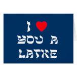 Eu te amo um Latke Cartão