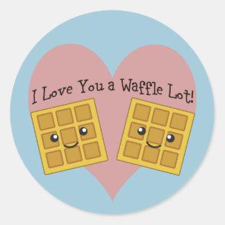 Eu te amo um lote do Waffle! Adesivo