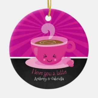 Eu te amo um ornamento de Latte