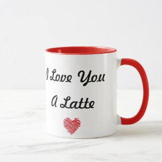 Eu te amo uma caneca de Latte
