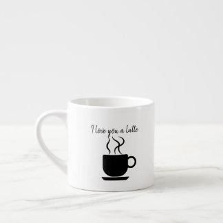 Eu te amo uma caneca do café do latte