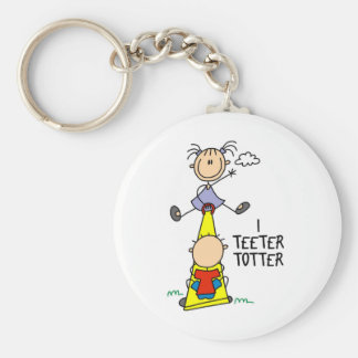 Eu Teeter chaveiro do Totter