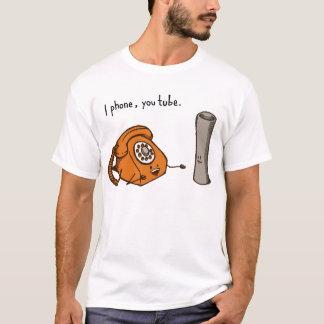 Eu telefono, você tubo. Camisa