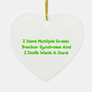 Eu tenho a síndrome verde múltipla do trator e eu ornamentos