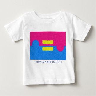 Eu tenho direitos demasiado! O igual endireita o Camiseta Para Bebê