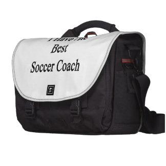 Eu tenho o melhor treinador do futebol mala para laptop