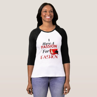 Eu tenho uma paixão para a camisa da luva T da
