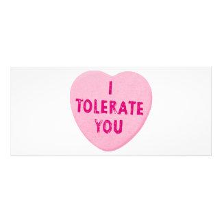 Eu tolero-o doces do coração do dia dos namorados 10.16 x 22.86cm panfleto