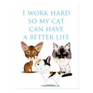 Eu trabalho o duro cartão postal
