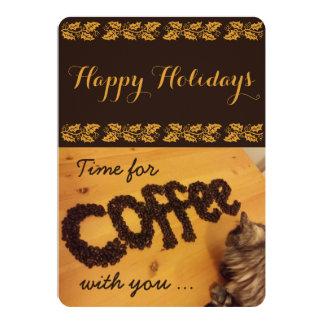 Eu trarei o cartão do café por RoseWrites Convite 12.7 X 17.78cm