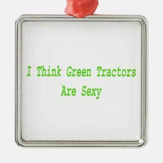 Eu tratores do pense verde sou ornamentos para arvore de natal