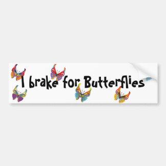 Eu travo para borboletas adesivo para carro