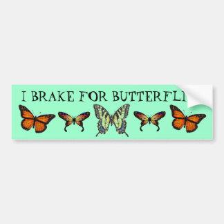 Eu travo para borboletas adesivo
