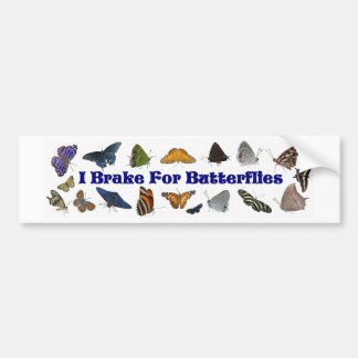 Eu travo para borboletas adesivos