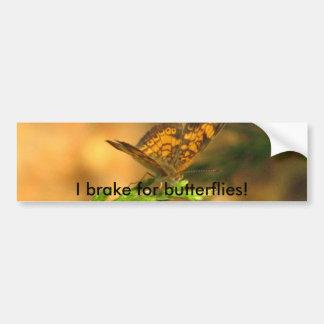 Eu travo para borboletas! Autocolante no vidro tra Adesivo
