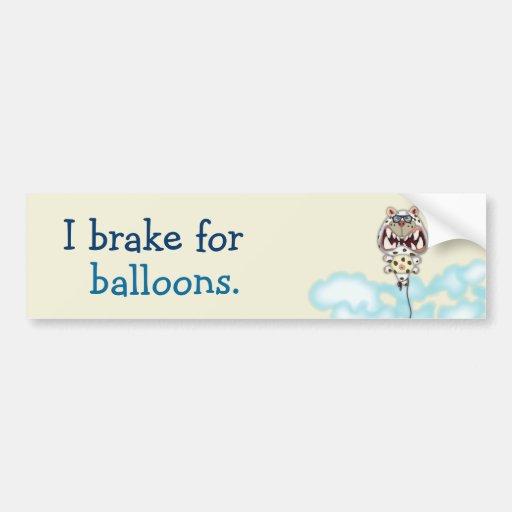 Eu travo para o balão branco Scared engraçado do g Adesivos