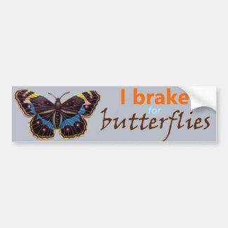Eu travo para o bumpersticker das borboletas adesivo para carro