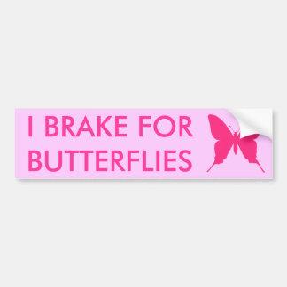 Eu travo para o rosa das borboletas adesivo para carro