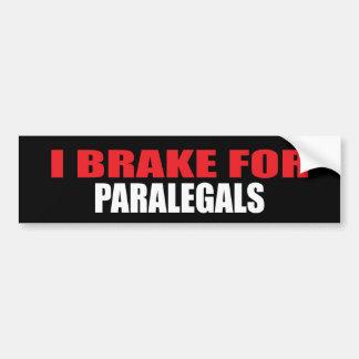 Eu travo para Paralegals Adesivo Para Carro