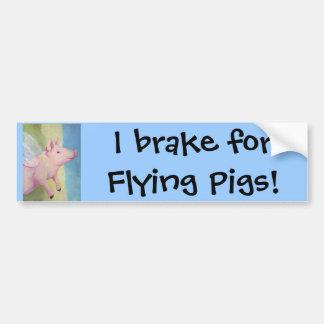 Eu travo para porcos de voo! Autocolante no vidro  Adesivos