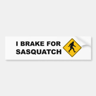 Eu travo para Squatch Adesivo Para Carro