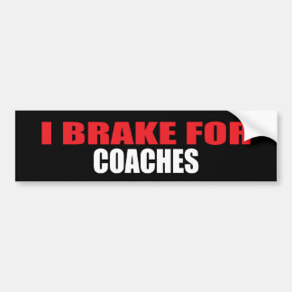 Eu travo para treinadores adesivo para carro