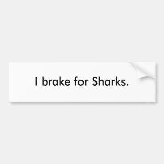 Eu travo para tubarões adesivo para carro