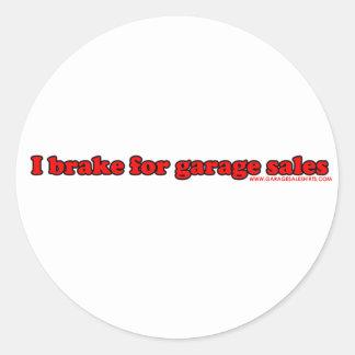 Eu travo para vendas de garagem adesivo