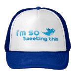 Eu Tweeting assim isto Bonés