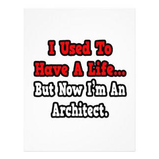 Eu usei-me para ter um arquiteto da vida… panfleto personalizado