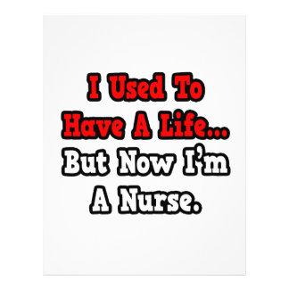 Eu usei-me para ter uma enfermeira da vida… modelo de panfletos