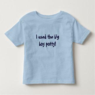 Eu usei o potty grande do menino! camiseta infantil