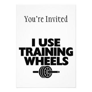 Eu uso as rodas de treinamento