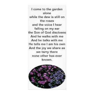 Eu venho ao marcador floral sozinho do jardim 10.16 x 22.86cm panfleto