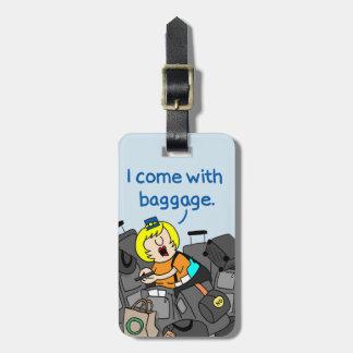 Eu venho com o Tag da bagagem dos hospedeiros de Tag De Bagagem
