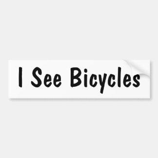 Eu ver bicicletas adesivo para carro