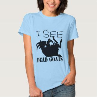 Eu ver cabras inoperantes camisetas