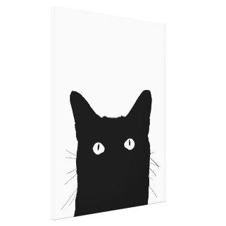 Eu ver o gato clicar para selecionar seu fundo da impressão em tela