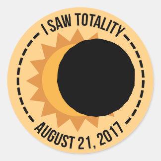 Eu vi etiquetas do eclipse solar 2017 da