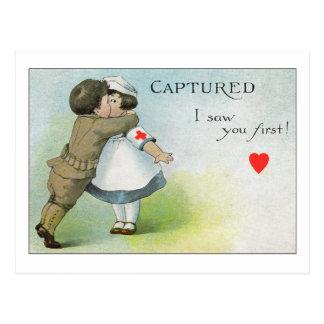 Eu vi-o primeiramente cartão postal