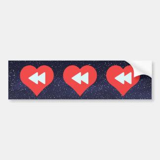 Eu vídeo do coração controlo o ícone adesivo para carro