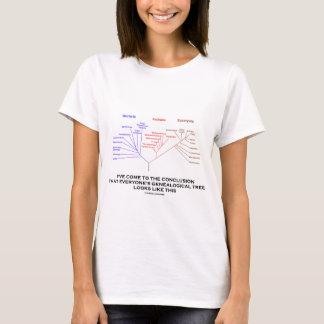 Eu vim à árvore genealógica da conclusão camiseta