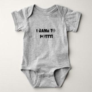 Eu vim ao bebê do potty uma parte body para bebê