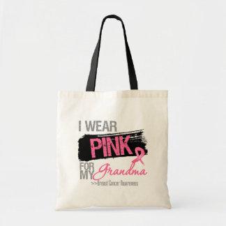 Eu visto a fita cor-de-rosa para meu cancro da mam bolsa