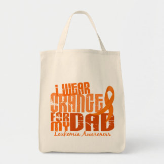 Eu visto a laranja para minha leucemia do pai 6,4 bolsa para compras