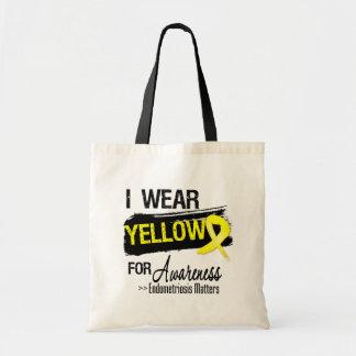 Eu visto matérias amarelas da consciência da endom bolsa para compras