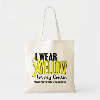 Eu visto o amarelo para minha endometriose do prim bolsas para compras