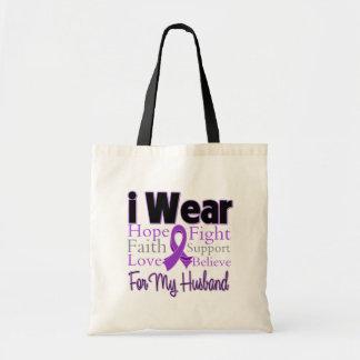 Eu visto o marido roxo da colagem - câncer de pânc bolsa de lona