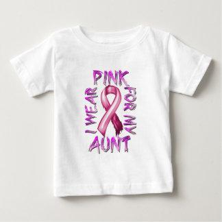 Eu visto o rosa para meu Aunt.png Camiseta Para Bebê