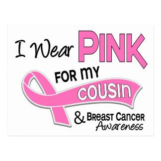 Eu visto o rosa para meu cancro da mama do primo cartão postal
